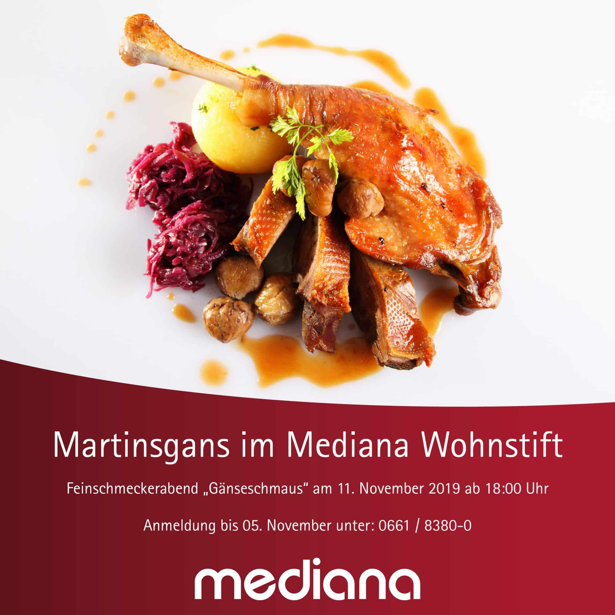 Einladung: Feinschmeckerabend im Mediana Wohnstift