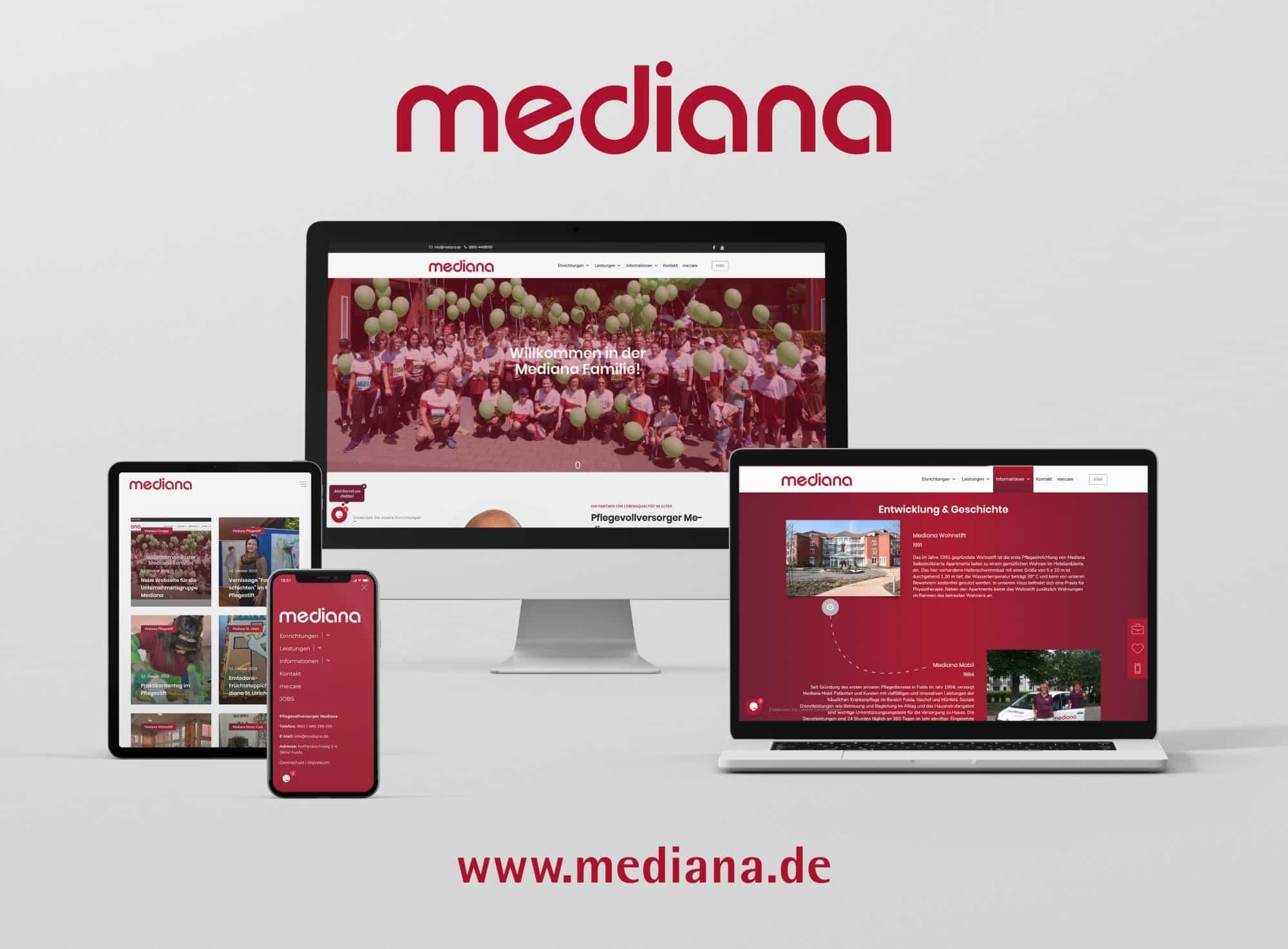 Neue Webseite: Mediana heißt Besucher mit emotionalem Auftritt willkommen