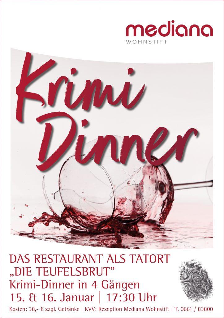 Krimi-Dinner in 4 Gängen im Mediana Wohnstift
