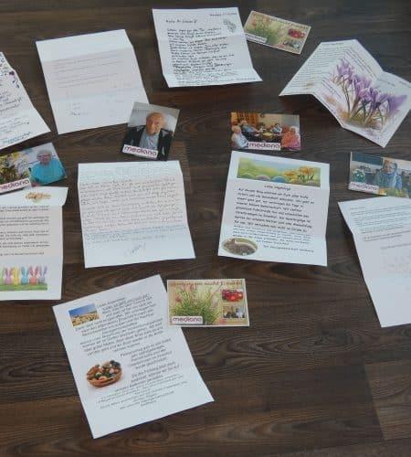 Briefe an die Angehörigen und gemeinsames Eierfärben im Mediana St. Ulrich.